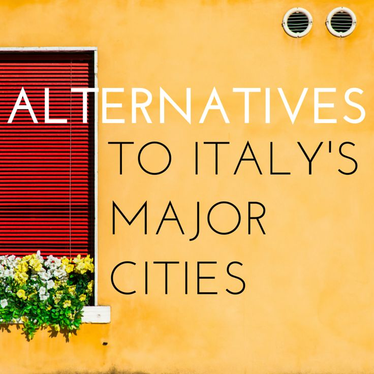 Five alternatives to the big cities in Italy! Swap Venice for Treviso, Rome for Verona, and explore Italy off the beaten path a little!