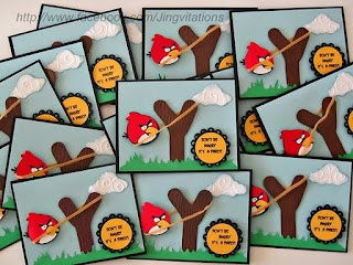 Angry Birds Invitations, Banner, Goody bags / Party Favor, Cake Top
