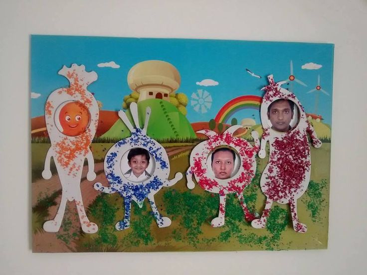 Flinto #kid Dennis' family portrait from the Veggie Champ #flintobox!