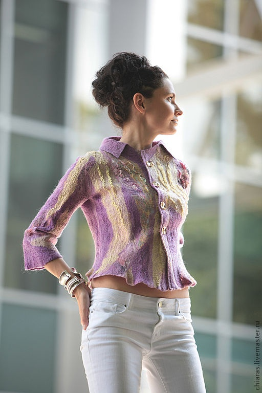 felt jacket by Irena Levkovich