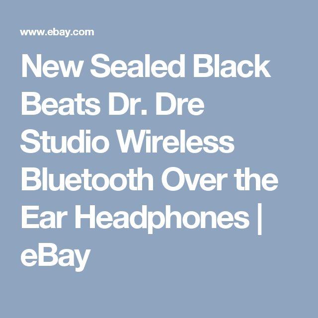 New Sealed Black Beats Dr. Dre Studio Wireless Bluetooth Over the Ear Headphones  | eBay