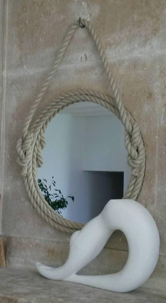 Les 25 meilleures id es de la cat gorie miroir de corde for Miroir rond deco