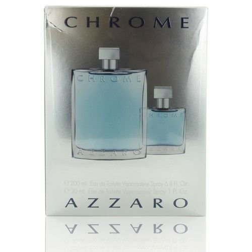 Chrome 2 Piece Gift Set With 6.8 Oz By Azzaro For Men
