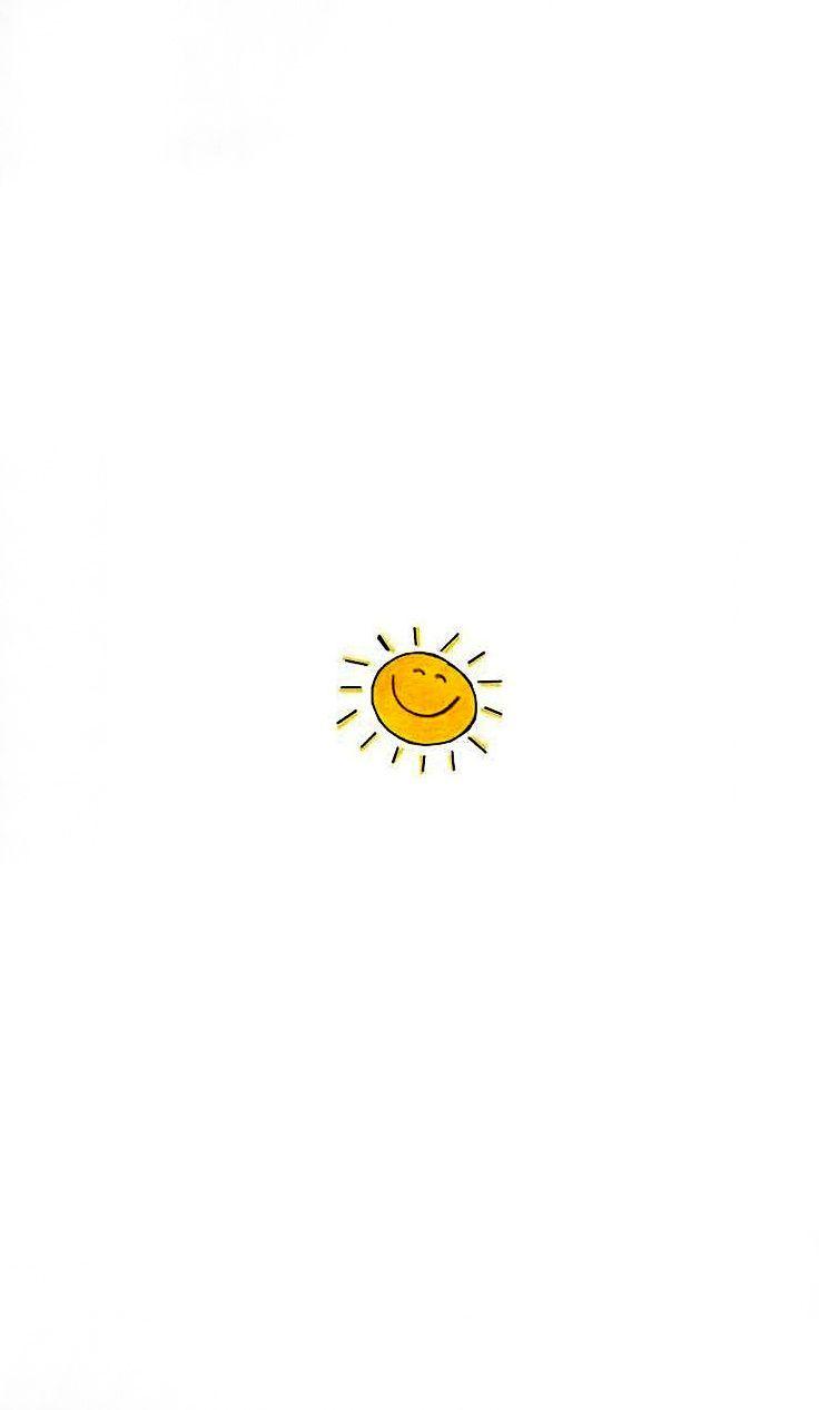 Kein Smiley. Nur der Sonnenschein Umriss …