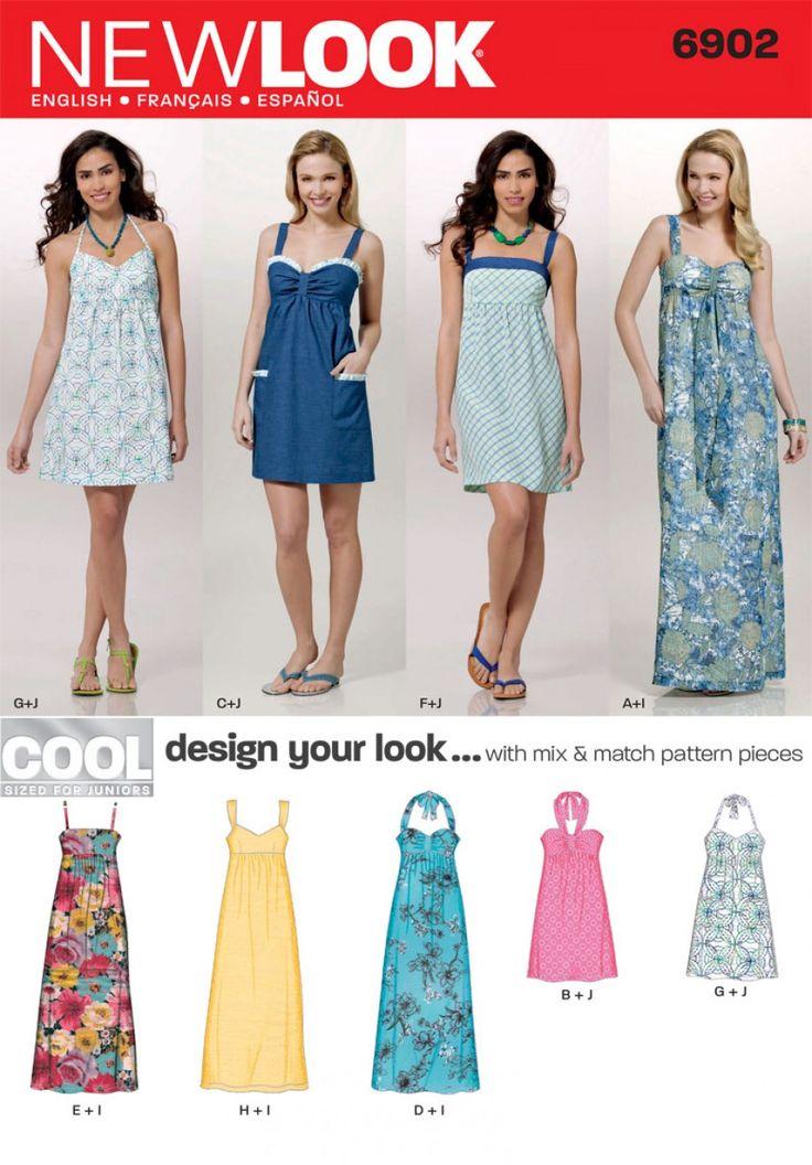New Look 6902 Junior Dress Sewing Pattern