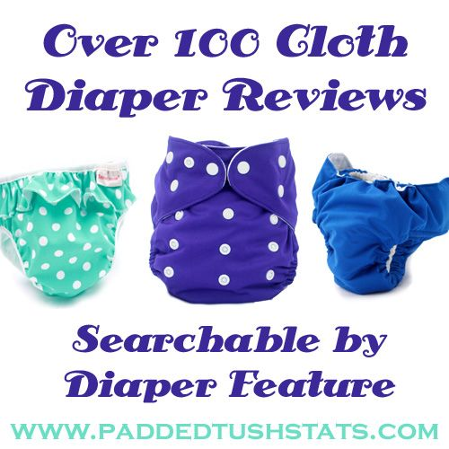 Over 100 cloth diaper reviews that are very detailed (many include statistics on how the diaper worked on different baby types). You can search the database by diaper feature.