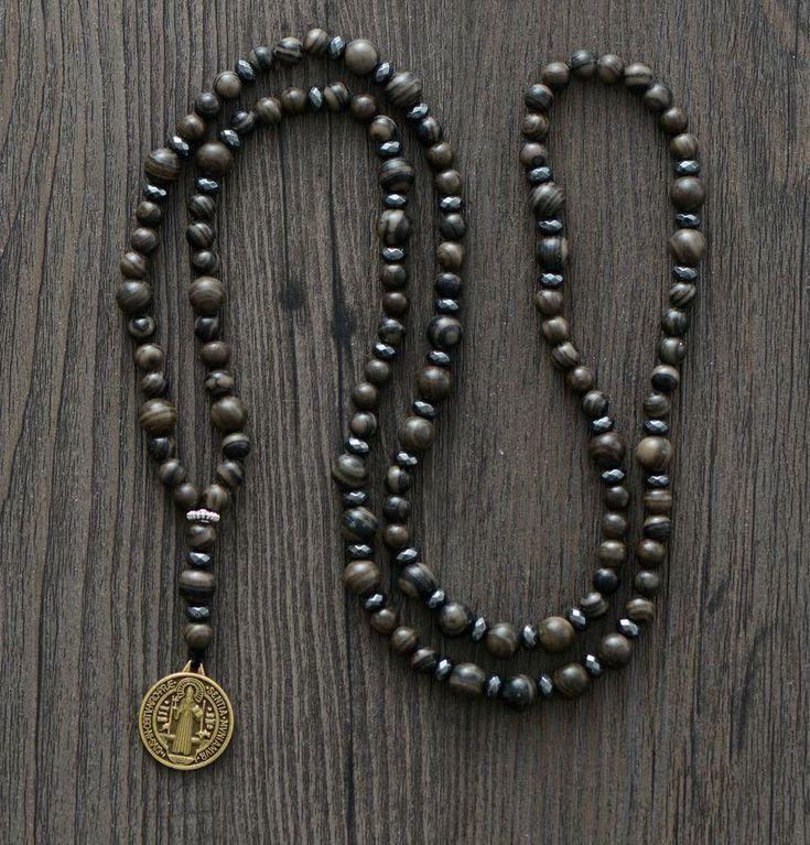 Natural Jasper Gemstone Necklace | Handmade Necklace | Men's Necklace