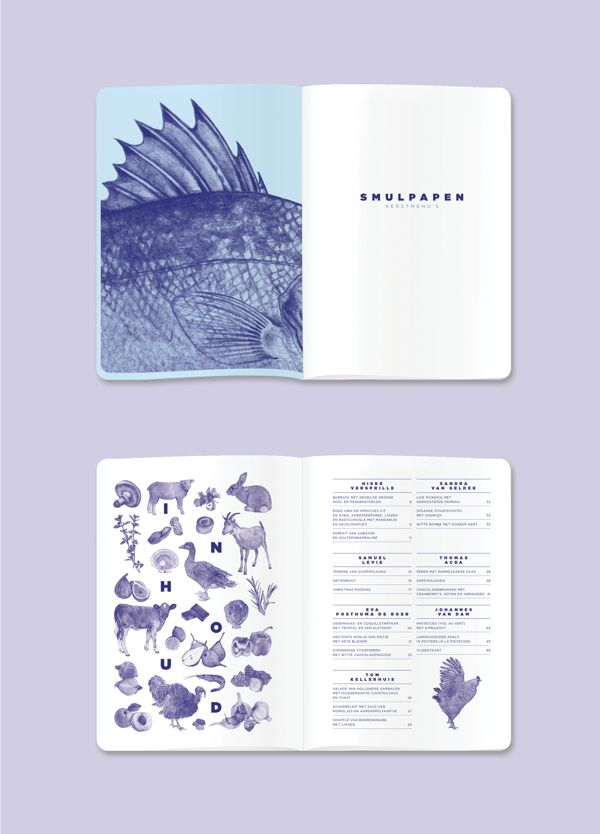 I really enjoy the consistent colour theme of this zine and how it uses quite deep purples but still has a pale simplistic appearance.