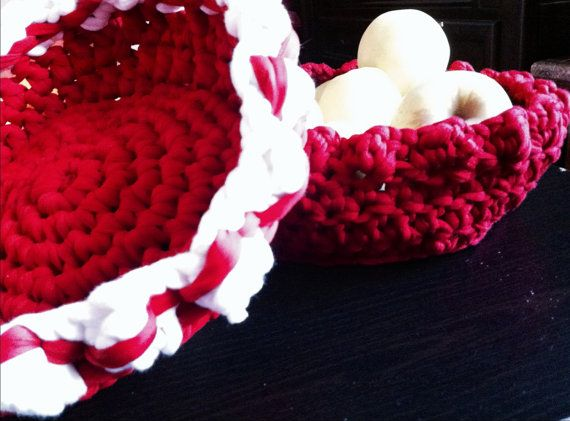 Crocheted Basket  by LooplaCrochet on Etsy