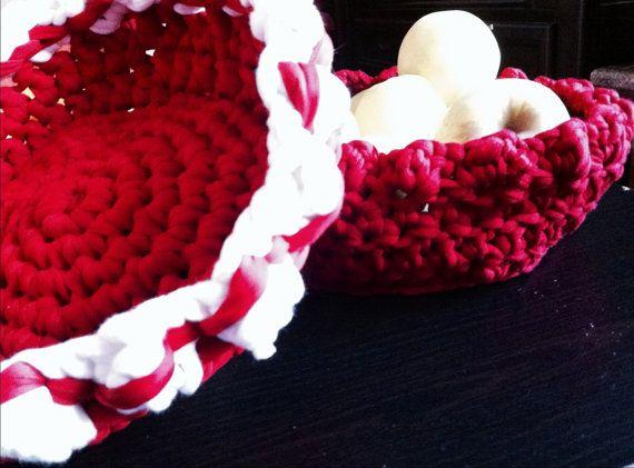 Crocheted Basket  by LooplaCrochet on Etsy
