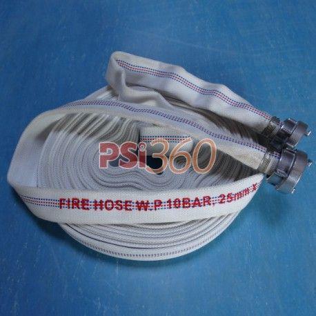 Furtun pompieri, Tip D, 10bar, rola 20ml, cu racorduri legate  Mod de prezentare: rola 20ml, cu  racorduri legate.