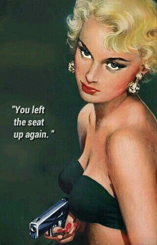 You left the seat up again. For the LAST time! Lmao you're killing me!