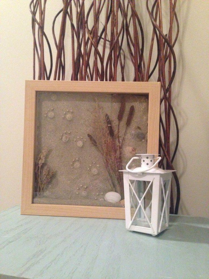 Paw Print Sand Beach Memories Shadow Box