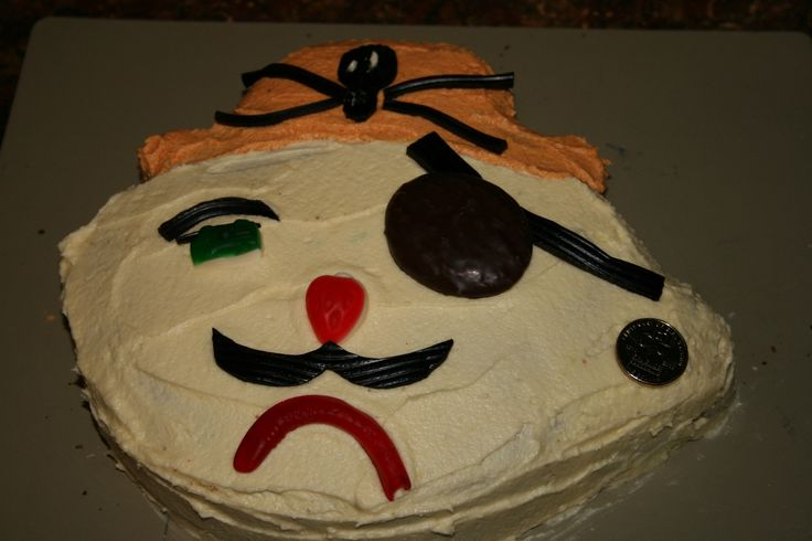 Pirate cake made for a friend - classic woman's weekly design