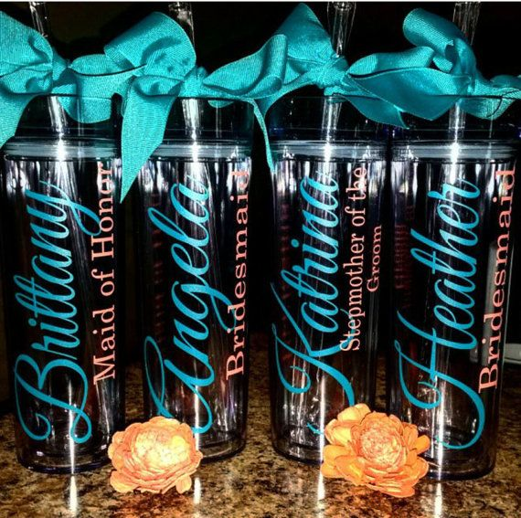 Personalized Tumbler Bridesmaid Gift Gift Team by krismattshop