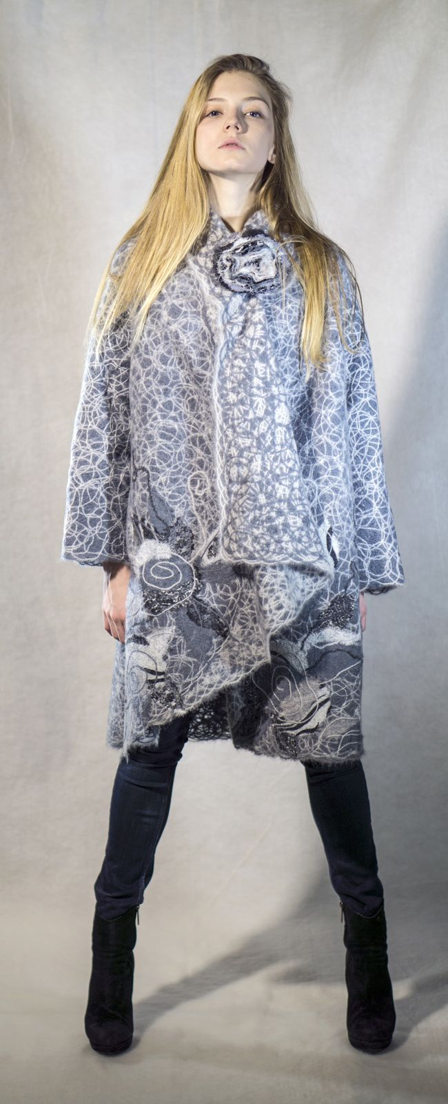 Yaga handmade coat. Material: wool 70%, acrylic 30%. Yaga on Etsy: http://www.etsy.com/shop/Yaga