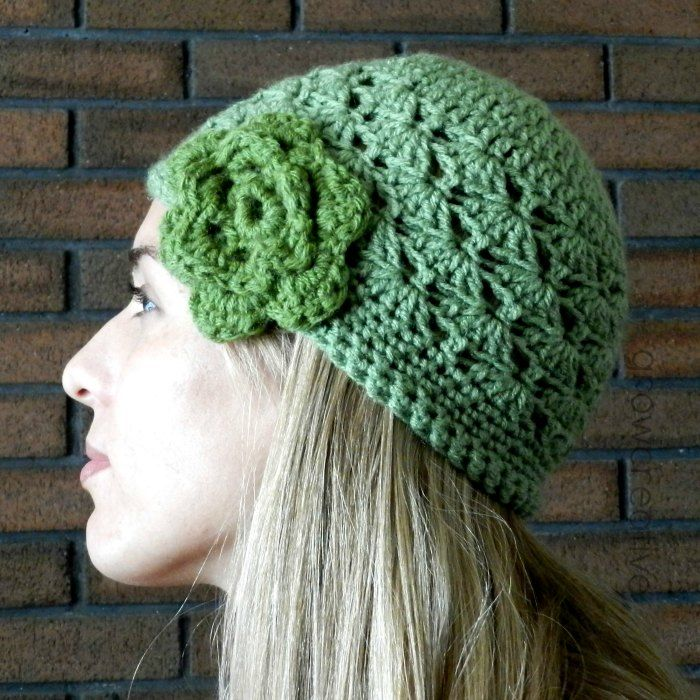 Grow Creative: Shell Stitch Crochet Hat- Free Pattern:
