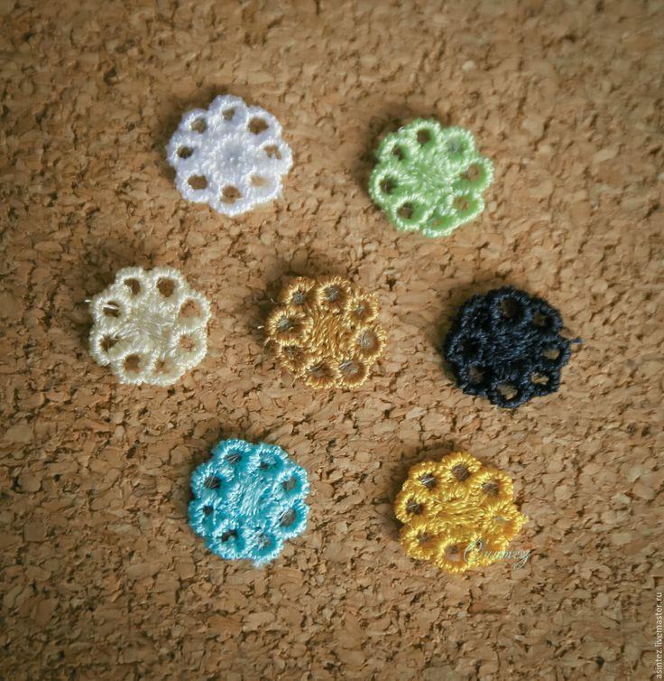 Купить вышивка, аппликация ажурная ромашка - вышивка машинная, аппликация вышитая, термоаппликация, декоративные элементы
