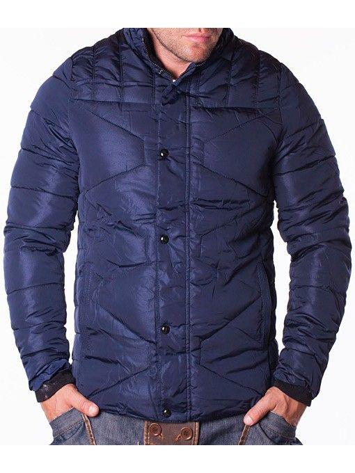 Geaca barbati de iarna Handi Fashion bleumarin