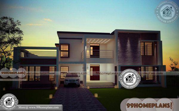 Rectangular plot house plan double floored modern box - Bedroom layout ideas for rectangular rooms ...