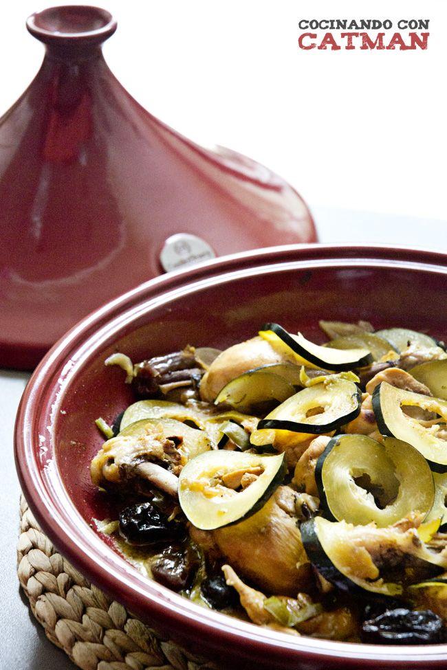 receta de tajine de pollo con verduras, dátiles y ciruelas pasas