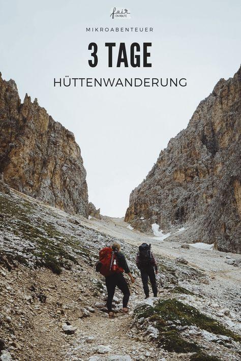 Mikro-Abenteuer: Hüttenwanderung in den Dolomiten