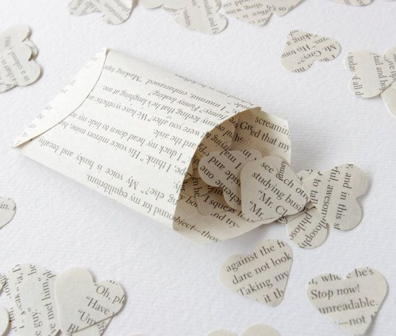 Lord of the Rings paper confetti heart paper by PurplePebbleGifts
