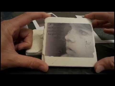 Onderzetters met foto of tekst zelf maken DIY - YouTube