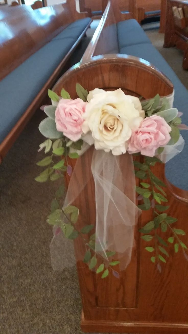 Hope and Joy Home DIY wedding pew bows                              …