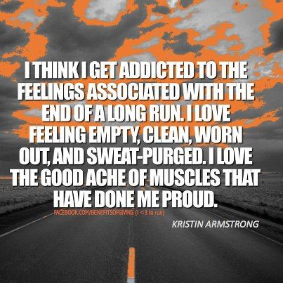 Love the feeling at the end of a workout!