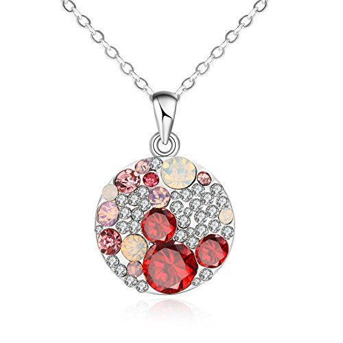 Yuntun European and American Fashion Kgold Color Ladies Fashion Round Czech Diamond Necklace(D1) ** Visit the image link more details.