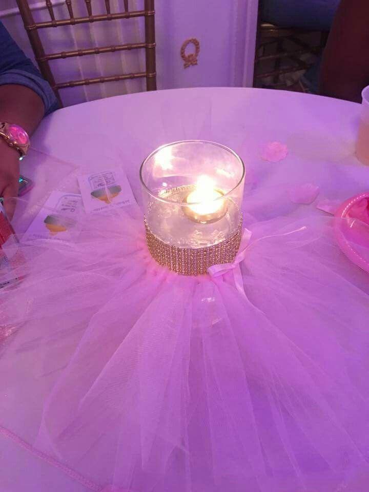 Tutu centerpieces for a ballerina babyshower