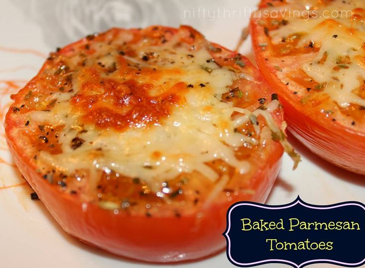 baked parmesan tomatoes | Vegetable Dishes- Main or Side | Pinterest