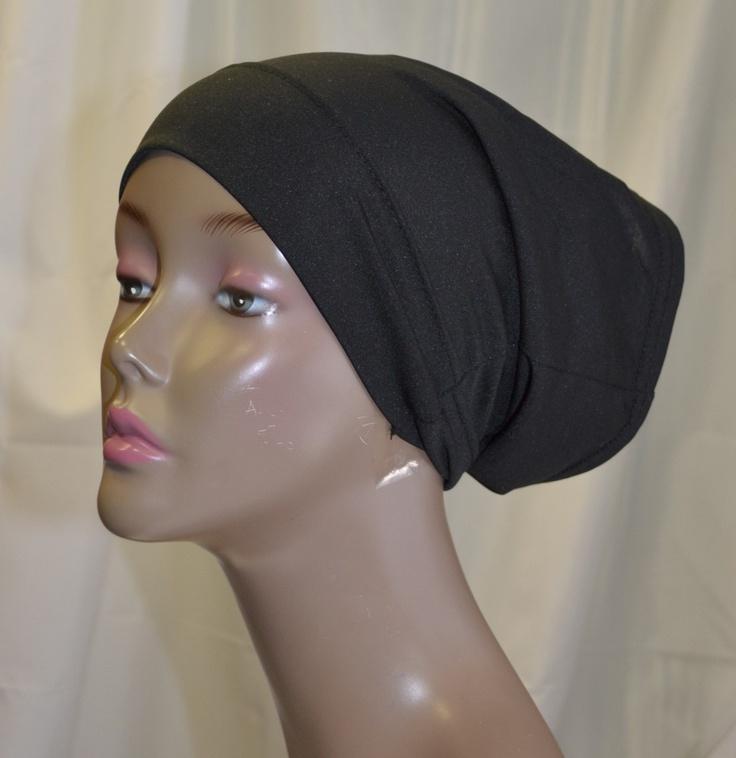 Hayaa Clothing - Tube underscarf Bonnet Hijab - BLACK, (http://www.hayaaclothing.com/tube-underscarf-bonnet-hijab-black/)