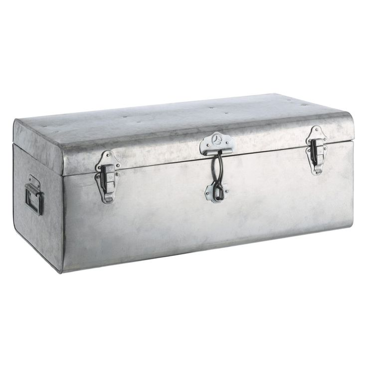 trunk silver galvanised storage trunk buy now at habitat uk