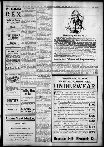 The Sanders County Ledger Oct 25 1917 #ww1cartoon https://t.co/LAvYOkFJGM https://t.co/XHizRbAGXk