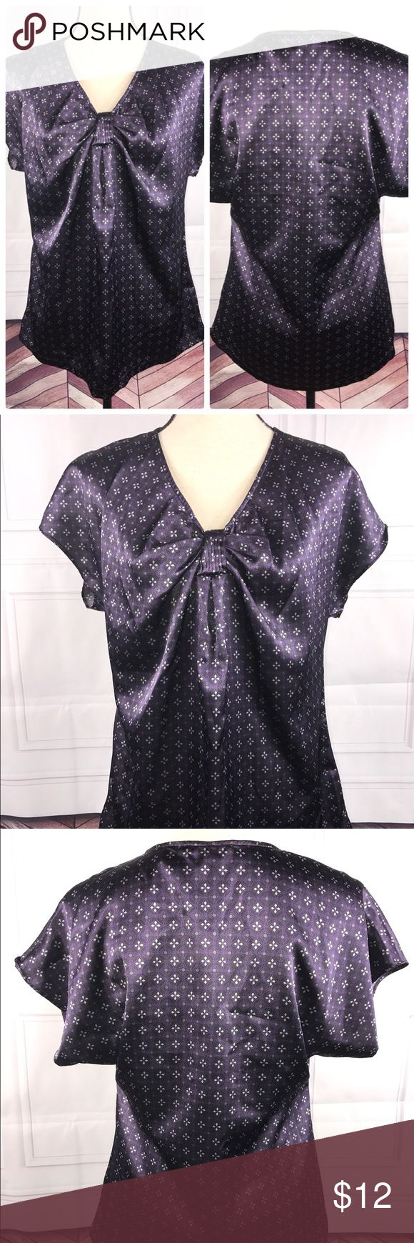 Apt. 9 Medium Purple Silver Blouse Apt. 9 Women's Purple Silver Blouse   •Medium   •Short Dolman Sleeve   Very good used condition   See pictures for:  Measurements  Flaws (if any)  Fabric content  Cleaning instructions  Additional details   Thank you for looking at my store! Apt.9 Tops Blouses