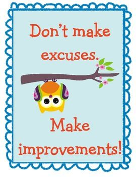 Owl Themed Motivational Poster Set 1 $