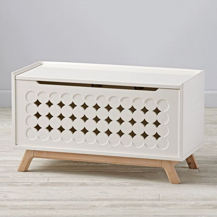 Shop Stuart Toy Box.  Designed just for us by Bill Eastburn, our Stuart Toy Box not only keeps your playroom looking cleaner, but it looks pretty good doing it, too.