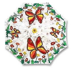 Unique Handpainted Patio Umbrellas For A Real Stylish Outdoor Decor.
