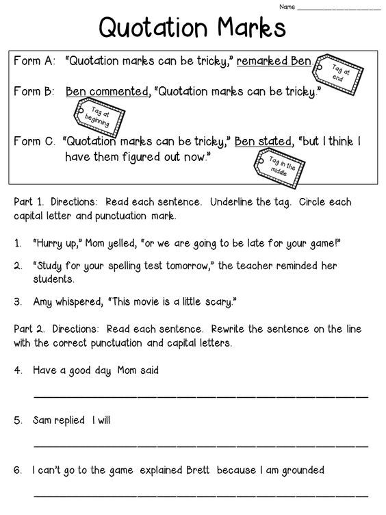 best quotation marks rules ideas quotation  quotation marks worksheet bie check the blog post to see the anchor chart