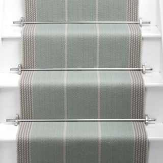 Roger Oates stair runner (like the silver rods or a Matt silver finish)