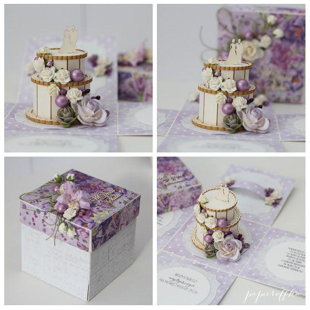 papieroffka exploding box ślub z tortem