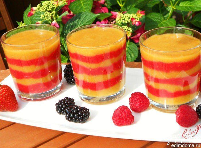 Смузи из малины и персиков. Вкусный, полезный и красивый летний напиток. #edimdoma #cookery #dinner #recipe #smoothies