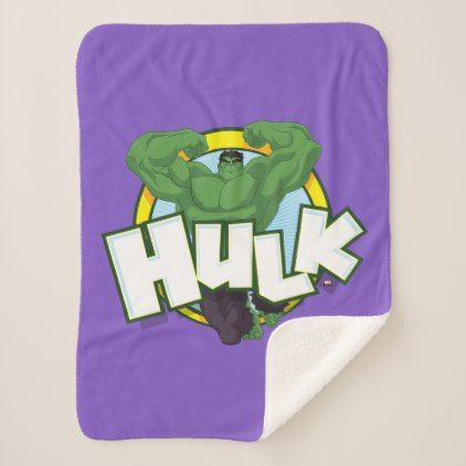 #Hulk Character and Name Graphic Sherpa Blanket - #marvel #comics & #movies #gifts