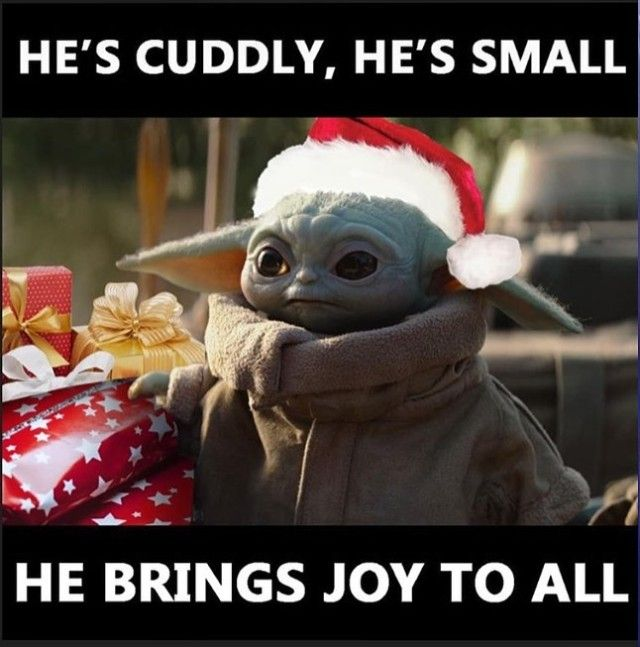 He S Cuddly He S Small He Brings Joy To All Yoda Funny Yoda Meme Star Wars Jokes