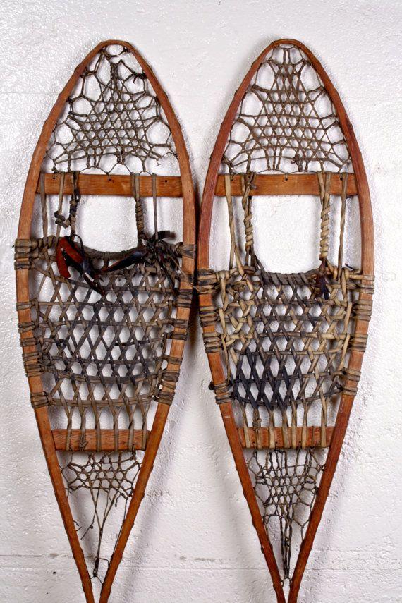 Vintage Snowshoes Rustic Cabin Decor                                                                                                                                                                                 More