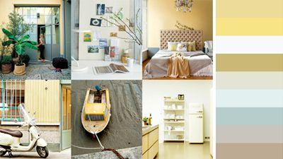 25 beste idee n over blauw geel grijs op pinterest blauw gele slaapkamers blauw gele - Babykamer beige en wit ...