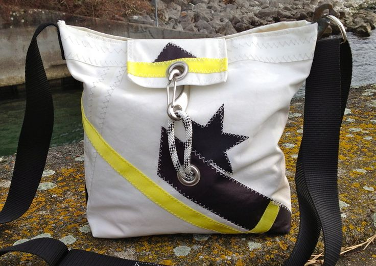 Recycled sailcloth bag / Sail Bag/   from RoughElement by DaWanda.com