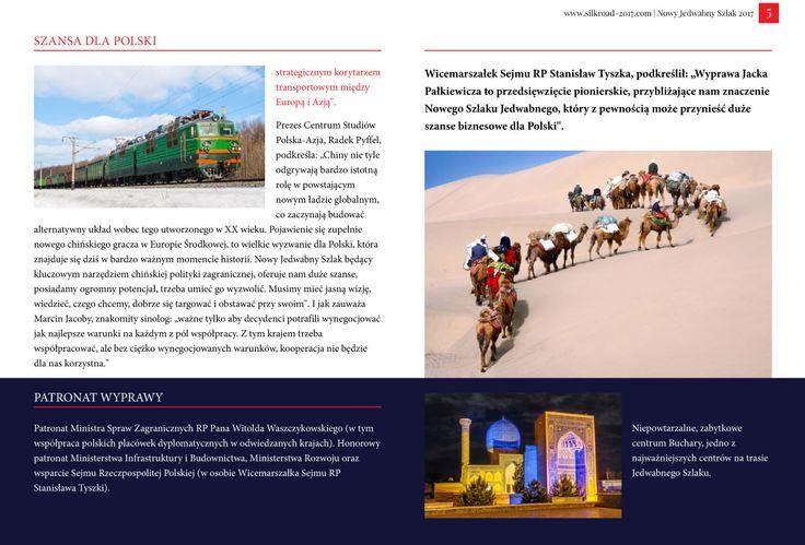 Strona 5 broszury międzynarodowej wyprawy Nowy Jedwabny Szlak 2017 - wydanie wrzesień 2016 | http://silkroad-2017.com